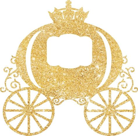 Wedding Home Decoration by Princess Carriage Glitter Cake Pick Topper Sparkly