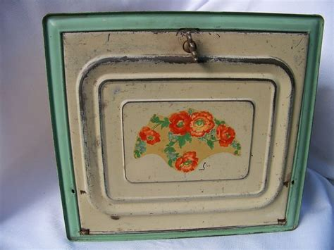 shabby chic bread box vintage tin shabby chic 1940 s pie safe bread box