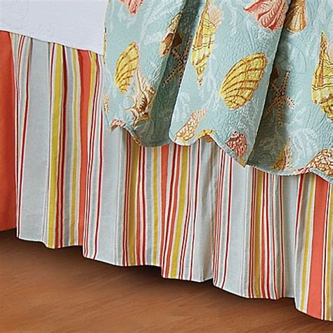 queen bed skirts buy fiesta key queen bed skirt from bed bath beyond