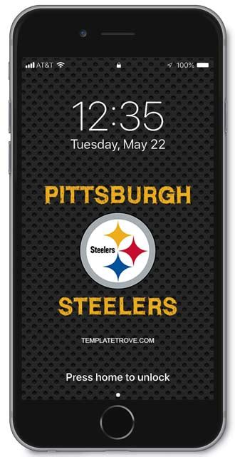 pittsburgh steelers lock screen schedule  iphone