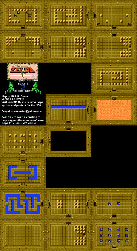 legend of zelda map level 2 location the legend of zelda level 5 quest 2 map bg