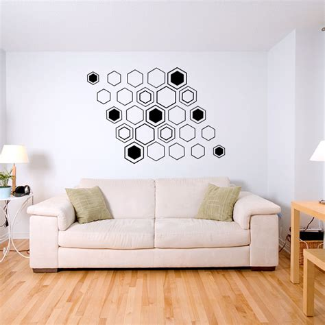 Sticker Decals For Walls geometric hex wall decal sticker