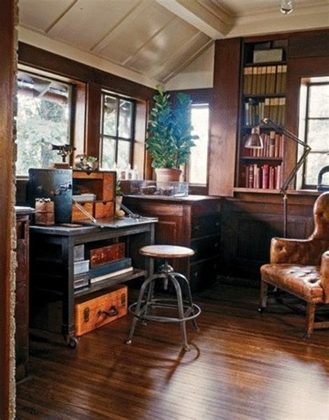 Vintage Home Office Furniture 45 Charming Vintage Home Offices Digsdigs