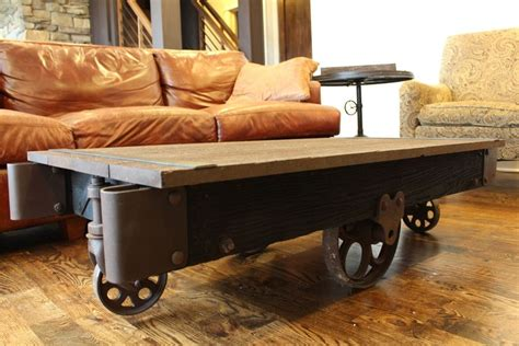custom made coffee tables made industrial coffee table by rustically modern