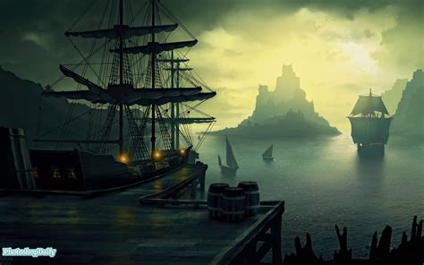 Themes In The Black Pearl   pirate ship backgrounds wallpaper cave