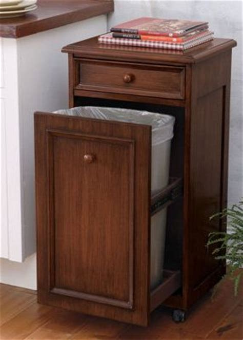 free standing trash can cabinet diy a tilt out garbage and recycling cabinet diy