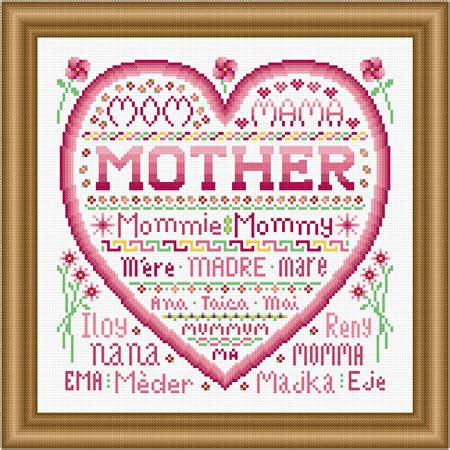 michaels pattern finder mother cross stitch pattern women