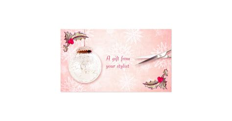 hair salon stylist holiday coupon gift card xmas zazzle