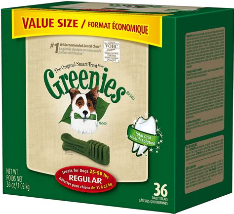 greenies for puppies greenies regular dental treats 36oz 36 count whitedogbone