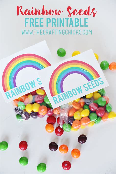 printable rainbow party decorations rainbow seeds free printable fun activities free