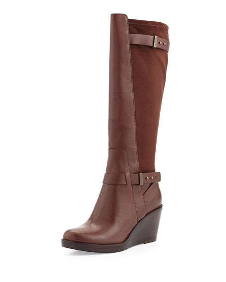 cole haan fulton wedge boot chestnut