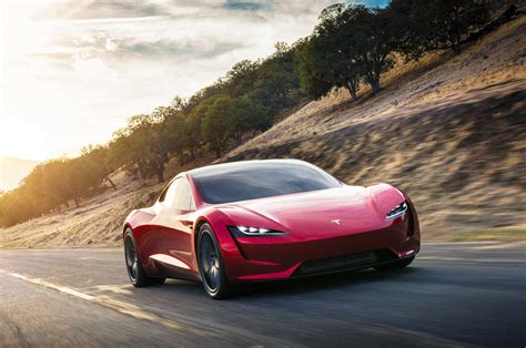 new electric car tesla the tesla roadster go to plaid in new test ride