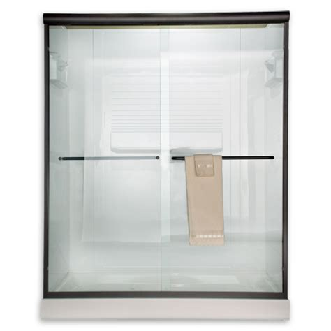 60 Inch Frameless Glass Shower Doors American Standard Am00394 400 Clear Glass Frameless By Pass Sliding Shower Doors Fits 56 To