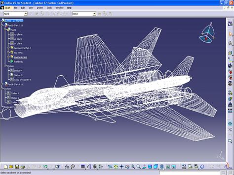Kaos Software Engineer Vertical View my catia v5 sukhoi 27 flanker 3 plan view engineering