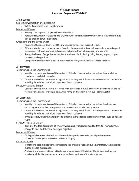 Science Worksheets For 7th Grade by 28 Worksheets In Science For Grade 7 Grade 4