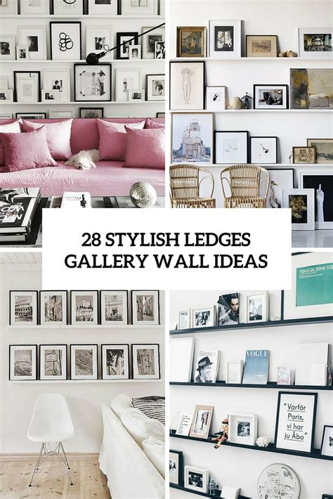 photo gallery ideas picture of 28 stylish ledges gallery wall ideas cover
