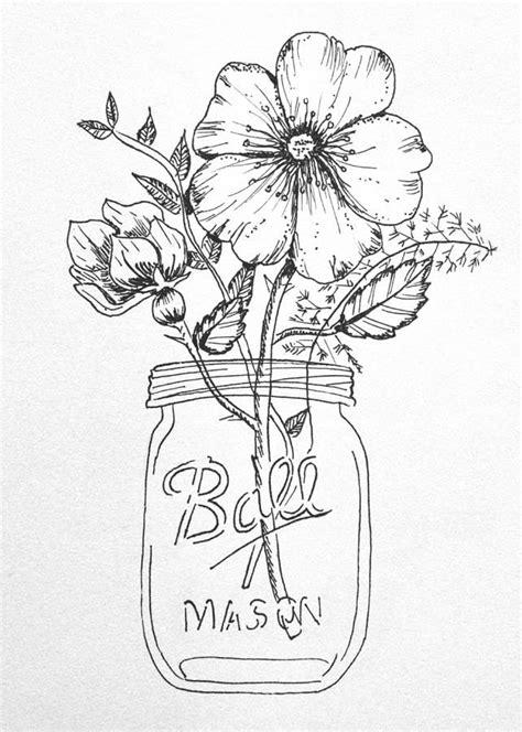 boat in a jar drawing flowers in a mason jar drawing google search wedding