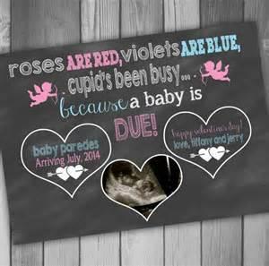 pregnancy announcement card valentines day photo pregnancy announcement baby ultrasound photo