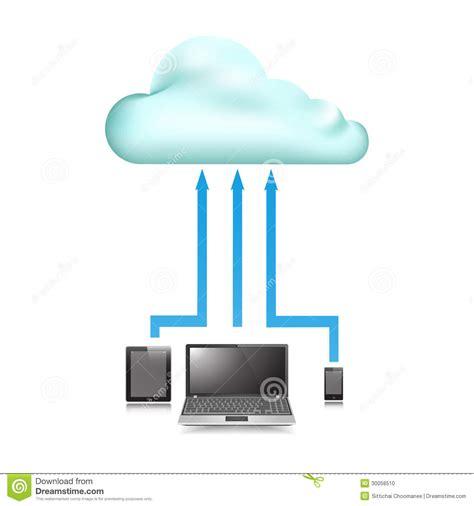 Cloud Store cloud store data upload communication device stock photo