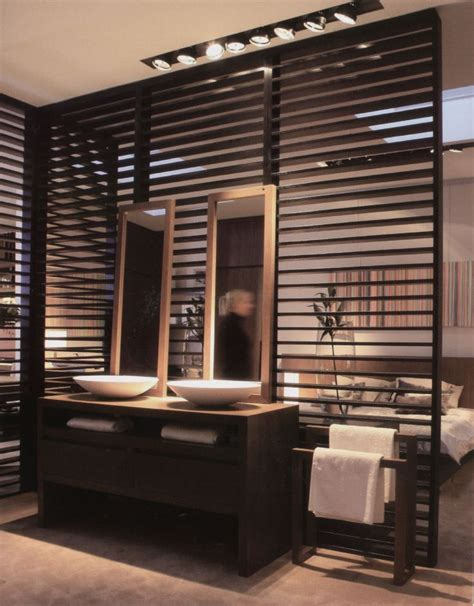 wooden partitions wooden partition wall between bathroom and bedroom