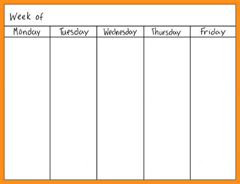 blank calendar template work week blank work week calendar paso evolist co