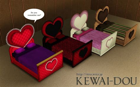 heart bed the gallery for gt sims 3 love bed