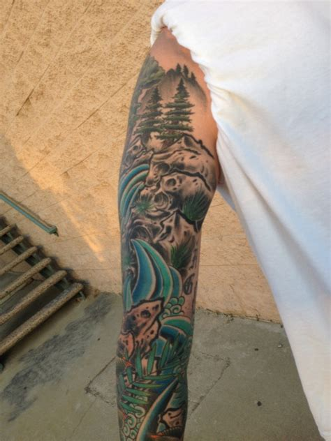 outdoor tattoos nature outdoor sleeve