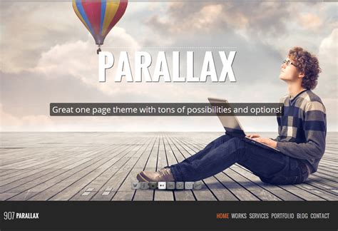 parallax scrolling themes and templates for drupal