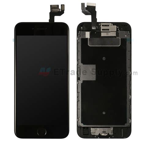 apple iphone  lcd assembly  frame  home button