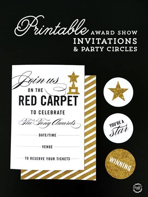 award invitation template carpet printables