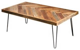 Wood Rustic Coffee Table Reclaimed Wood Herringbone Coffee Table Rustic Coffee Tables By Grindstone Design