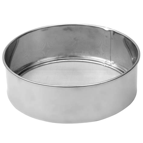 Kitchen Sieve by New Stainless Steel Silver Mesh Flour Sieve Sifting