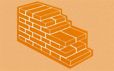 muro a tre teste muri in laterizio