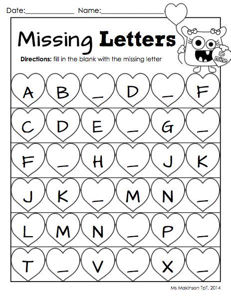 printable valentine letters february printables kindergarten literacy and math