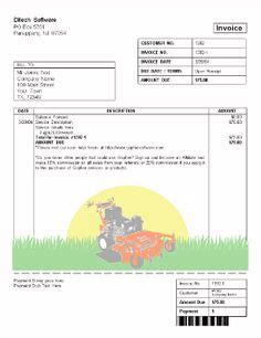 template for lawn care receipt printable sle lawn service contract form laywers