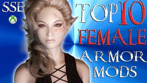 skyrim hot armor for female mod skyrim special edition top 10 female armor mods youtube