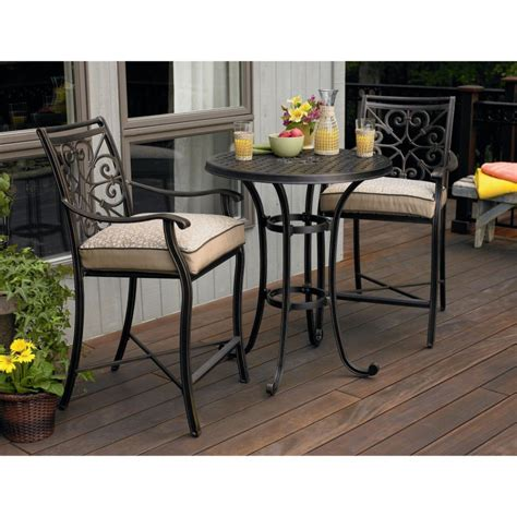 Bar Height Bistro Table Outdoor Homeofficedecoration Outdoor Bar Height Bistro Sets