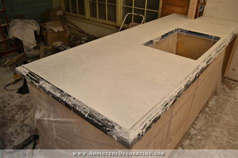 How To Form Concrete Countertops by Diy Pour In Place Concrete Countertops Part 2