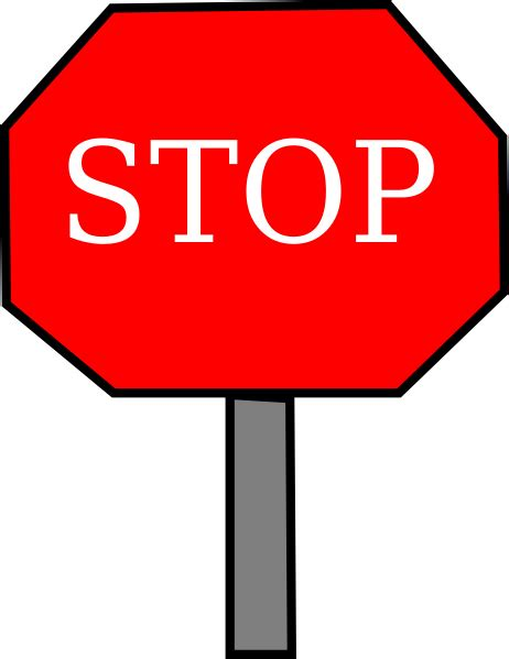 sign clipart stop sign clip clipartion