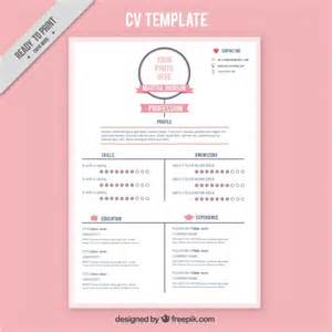 resume template with timeline style vector free
