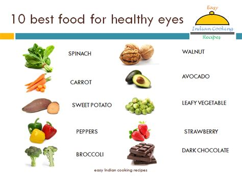 foods for better eyesight 10 vegetables and fruits for better vision of