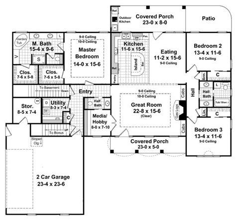 one story home plans with basement dream house plans love this and house on pinterest