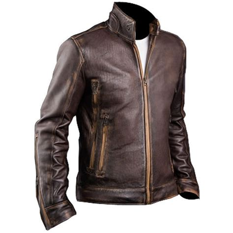 Motorrad Lederjacke Cafe Racer by Mens Cafe Racer Stylish Biker Brown Distressed Leather