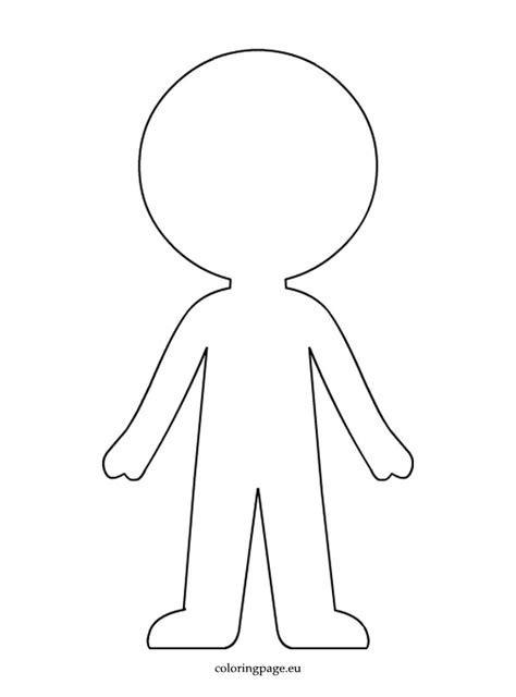 doll cut out template boy paper doll template coloring page