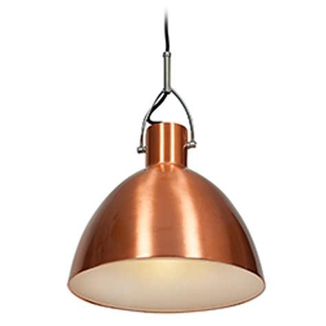Access Lighting Essence Brushed Copper Pendant Light With Copper Shade Pendant Light