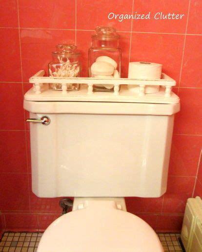 a vintage toilet tank shelf makeover shelves home and