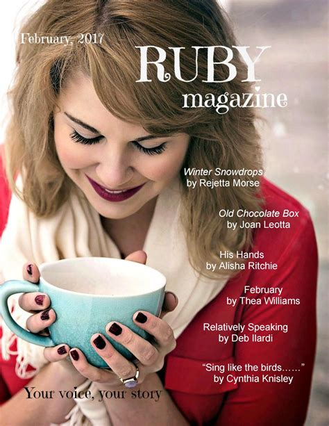 ruby magazine february 2018 your voice your story books february 2017 ruby by ruby magazine issuu