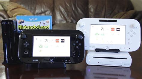 wii u white console wii u deluxe black vs basic white set unboxing