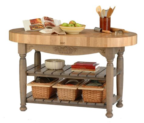 boos butcher block island boos harvest table oval butcher block island