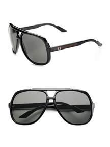 gucci navigator sunglasses in black for lyst